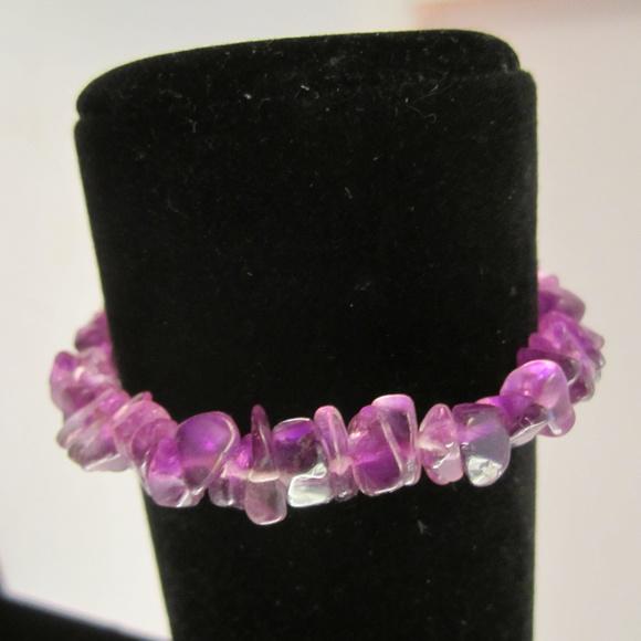 Dark Purple Amethyst Bracelet with Filigree Clasp